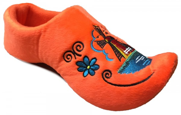 Comfy Dutch Clog Slippers in Orange