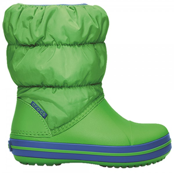 Crocs Winter Puff Boot Kids - Lime/Sea Blue